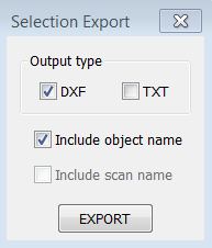 Export by selection