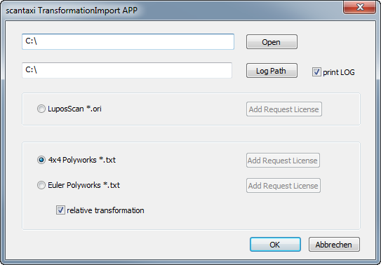 TransformationImporter-dialog